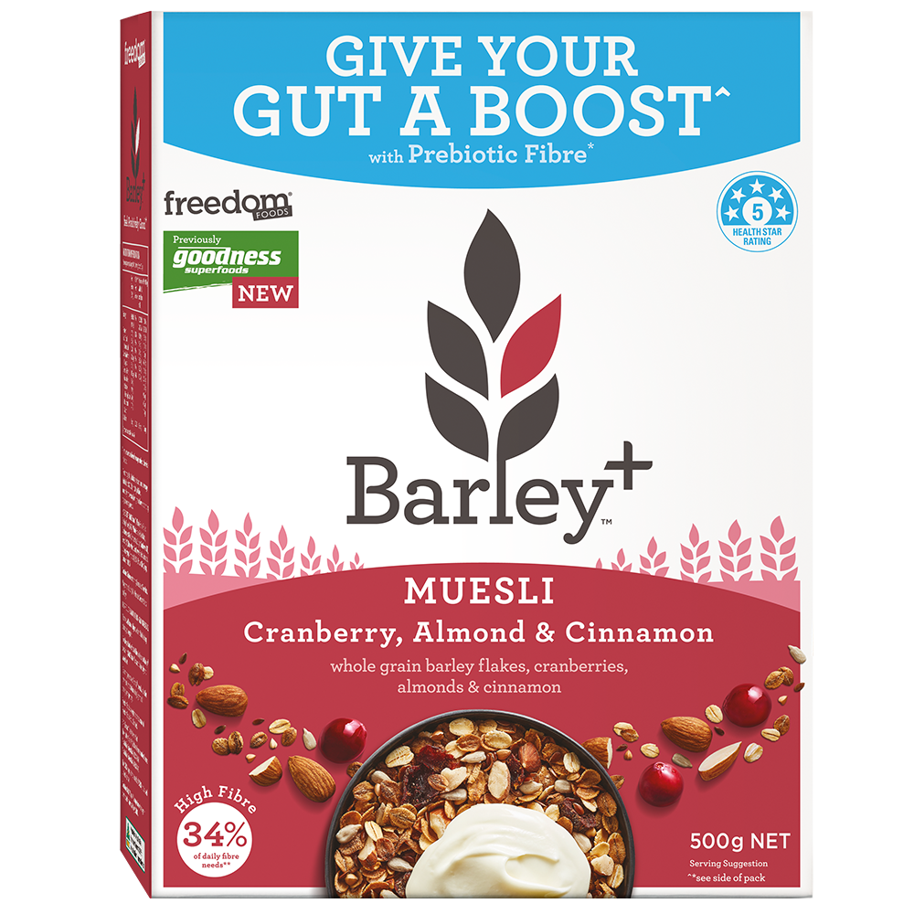 Healthy Breakfast Cereal Cranberry & Nuts Muesli Barley+